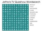 Jethro's TV Quizshow Wordsearch